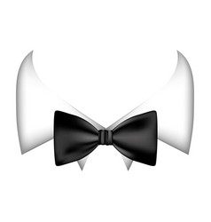 Colorful sticker bow tie with shirt icon vector
