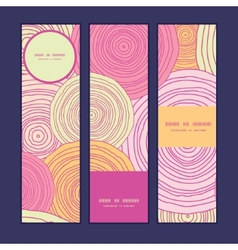Doodle circle texture vertical banners set pattern vector