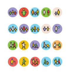 Family icons 5 vector