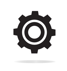 gear icon on white background gear sign vector image vector image