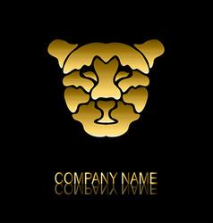 golden leopard symbol vector image