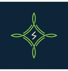 green symbol vector image vector image