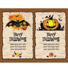 halloween textured backgrounds vector image vector image