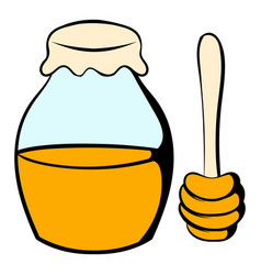Honey bank and dipper icon cartoon vector