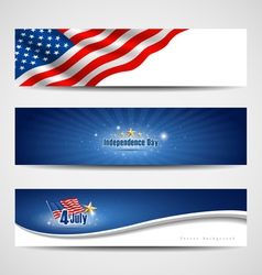 independence day banner background vector image vector image