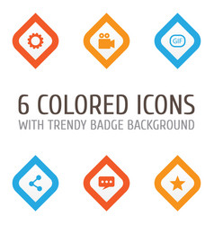 Internet icons set collection of gear gif vector