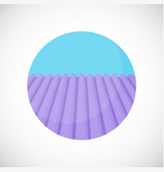 Lavender field flat icon vector