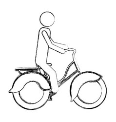 Monochrome sketch pictogram of man in classic vector