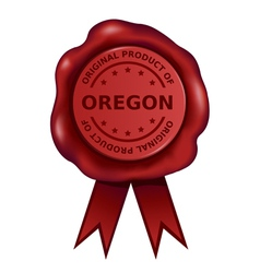 Product Of Oregon Wax Seal vector image