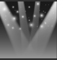 realistic stage light transparent festival light vector image vector image