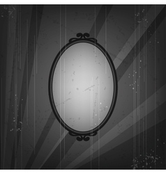 Retro frame on old grunge background vector image vector image
