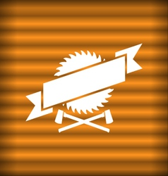 Sawmill design vector image