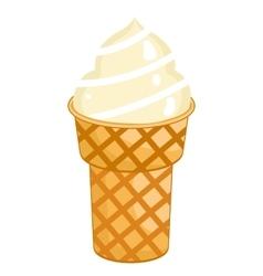 Single Ice Cream Cone vector image vector image