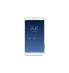 Smartphone with unlock screen vector