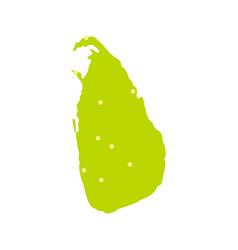 sri lanka green map icon flat style vector image