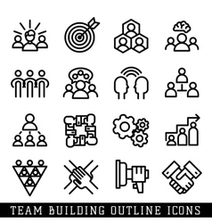 Team building icons vector