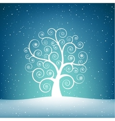 The snow tree vector