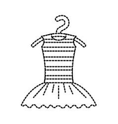 Tutu ballet on the hanger costume classic vector