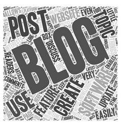 Which blogging platform to use word cloud concept vector