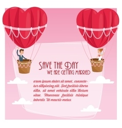 save the date wedding icon graphic vector image