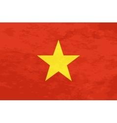 True proportions vietnam flag with texture vector