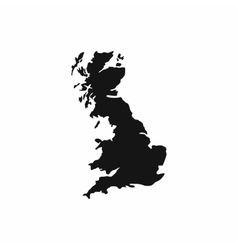 Map of great britain icon simple style vector