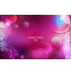 Christmas and New Year Bright festive background vector image