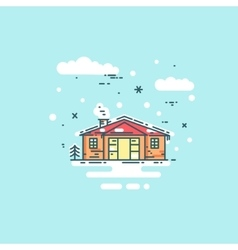 Abstract line house vector