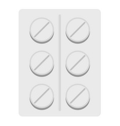 Pills icon isolated vector