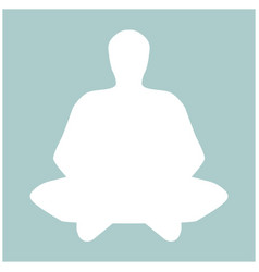 Meditation man the white color icon vector