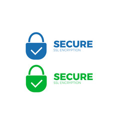 Secure payment icon ssl encryption transaction vector