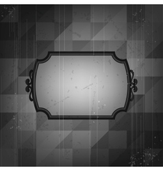 Retro frame on old grunge background vector