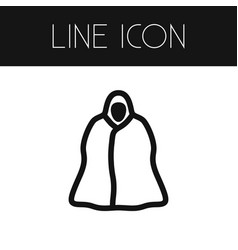 Isolated cloak outline raincoat element vector