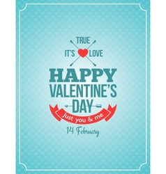 Valentines day retro vintage background vector
