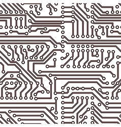 Seamless circuit board pattern vector