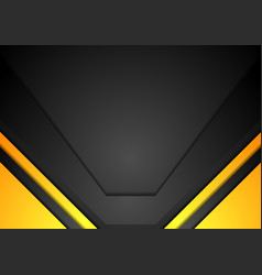 Yellow and black corporate art background vector image