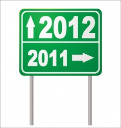road sign 2012 vector image