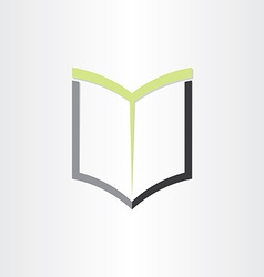 Book or notebook reading icon design vector