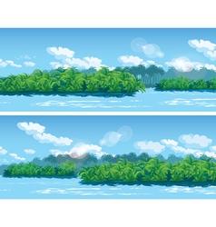estuary a large tropical river vector image