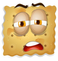 Yellow square biscuit face vector