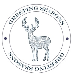 Greeting season stamp blue vector