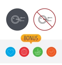 Family planning icon fertilization sign vector