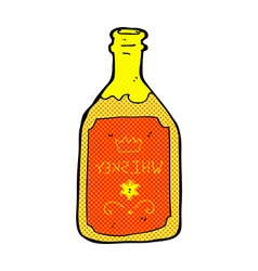 Comic cartoon whiskey bottle vector