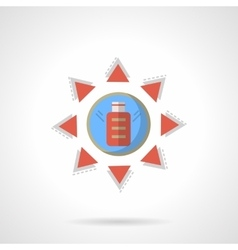 Solar charge flat color design icon vector