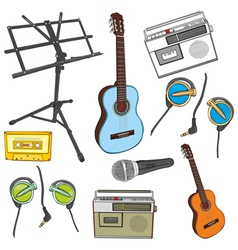 Music items vector