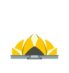 Lotus temple new delhi icon flat style vector