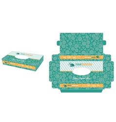 minimalist tissue paper box vector image