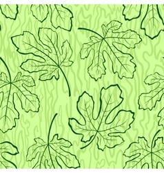 Seamless Background Fig Leaves vector image