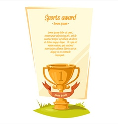 Sports award background vector
