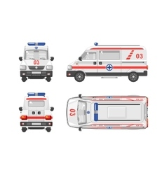 Ambulance car 1 vector image vector image